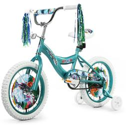 "Girls 16"" Bicycle Bike  with Removable Training Wheels For"