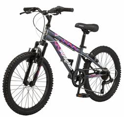 Mongoose Girls Bicycle 20 Inch Kids Bike Children 7 Speed Fr