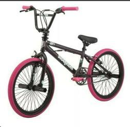 """Mongoose Girls Bike 20"""" BMX Black Pink Freestyle"""