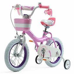 RoyalBaby Girls Bike Bunny 12 Inch Girl's Bicycle With Train