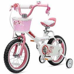 Royalbaby Girls Bike Jenny 12 Inch Girl's Bicycle With Train