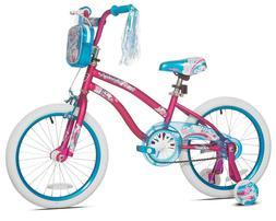 "GIRLS BIKE Kids Bicycle 18"" Wheels Pink Blue Steel Training"