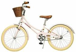 Girls Bike with Basket for Kids, 14 inch with Training Wheel