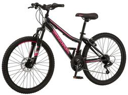 Mongoose Girls Excursion Mountain Bike 24 Inch Wheels, 21 Sp