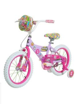 "Girls Kids 16"" Dynacraft Shopkins Bike Training Wheel Handle"