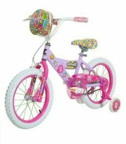 "Girls Kids 16"" Dynacraft Shopkins Bike with Training Wheels"