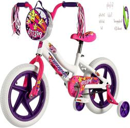 Mongoose Girls Presto Bike With 16-Inch Wheels, White