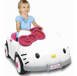Hello Kitty Kids Powered Ride On Car 6V, Sanrio Dynacraft RA
