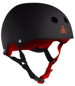 Triple Eight Helmet with Sweat Saver Liner, Carbon Rubber, M