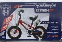 RoyalBaby HERO Kids Bike 12 inch wheels Removable Training W