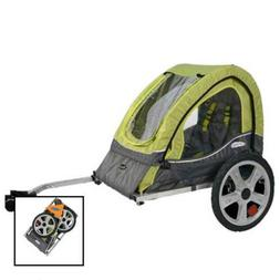 Pacific Cycle InStep Sync Single Bicycle Trailer, Green/Gray