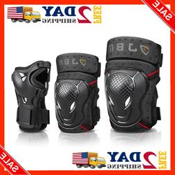 JBM BMX Bike Knee Pads and Elbow Pads with Wrist Guards Prot