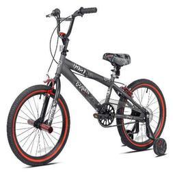 "Kent 18"" inch Boys Freestyle Bike BMX Gray Training wheels p"