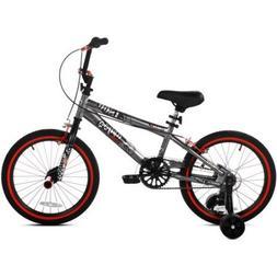 """Kent 18"""" Abyss FS18 Boys' BMX Bike 31826, Silver"""