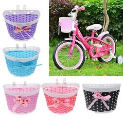 Kids Bicycle Front Basket Bike Cycle Shopping Holder for Chi