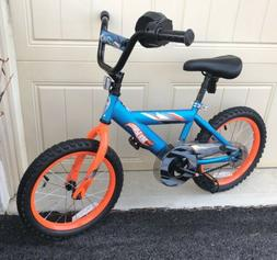 "Hot Wheels Kids Bike 16"" Boys Rear Brake Turbo Grip & Remova"