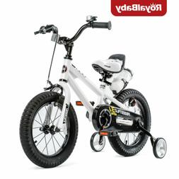 RoyalBaby Kids Bike Boys Girls Freestyle Bicycle 14 inch wit