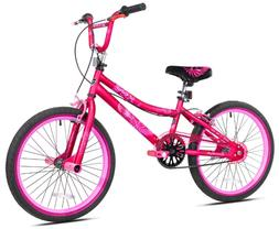 KIDS BIKE Girls BMX Bicycle 20-Inch Wheels Pink Steel Frame