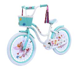"""KIDS BIKE Girls Cruiser Bicycle 20"""" Wheels Blue White Steel"""