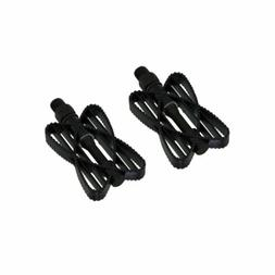 "Kids Bike Pedals for 12"" Bicycles Children 1/2"" Axle, Black"