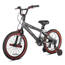 Boys Freestyle Bicycle BMX Steel Frame 18-Inch Cycling w/ Tr