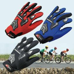 Kids Children Bike Cycling Full Finger Gloves Boys /& Girls Sports Bicycle Riding