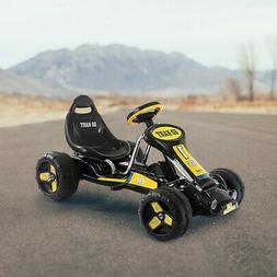 Kids Go Kart Ride on Bike Outdoor 4 Wheeler - Black/Yellow