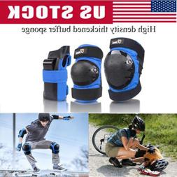 Kids Knee And Elbow Pads Wrist Protective Guards Youth Skate