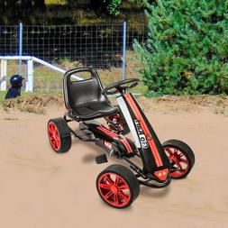 Kids Pedal Go Kart Ride on Car Racer Boy Racing Bike Outdoor