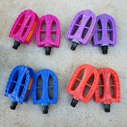 KIDS REPLACEMENT PEDALS 9/16 FOR 3PC CRANKS BMX BIKE BICYCLE