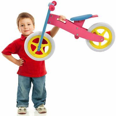 "12"" Balance Bike Kids No-Pedal Learn Ride Pre Bike Adjustable"