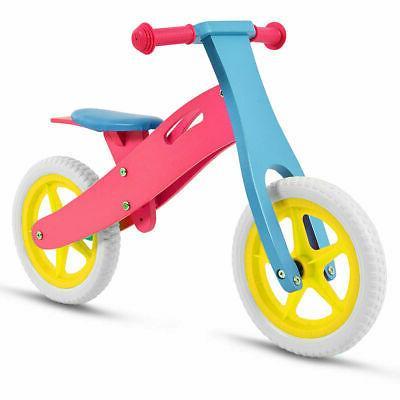 "12"" Balance Bike Kids No-Pedal Learn Ride Adjustable Seat"