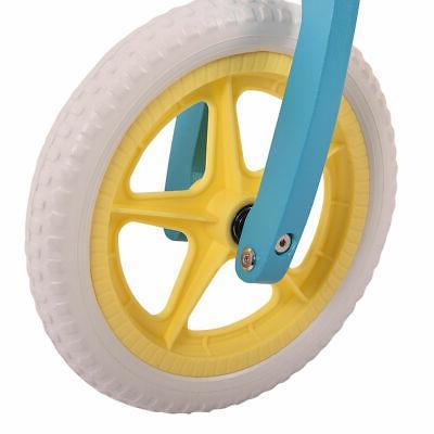 "12"" Balance Bike Kids Learn Ride Bike Adjustable Seat"