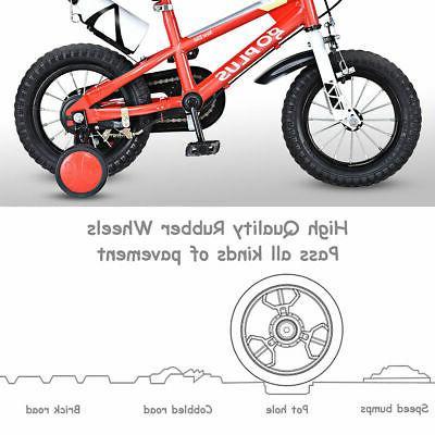 "12"" Freestyle Kids Bicycle Children Girls w Wheels"