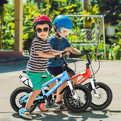 "12"" Kids Bike Bicycle Boys Girls Gift Training Wheels Red"