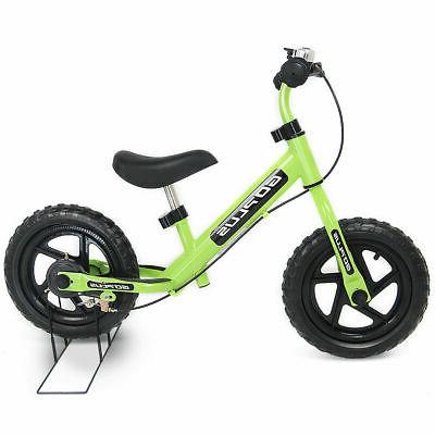 12 green kids balance bike children boys