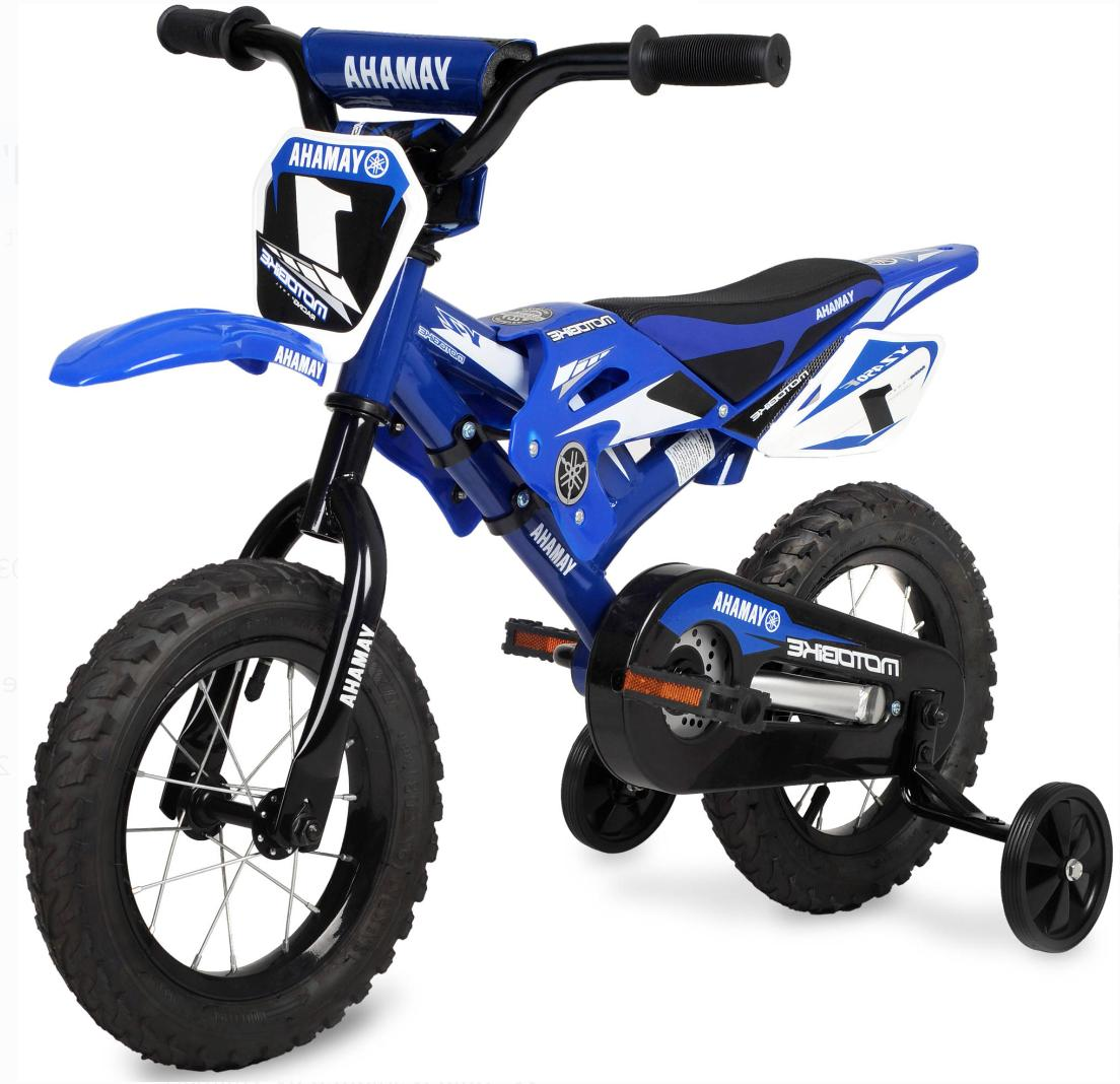 "Yamaha Moto Bike Bicycle Motobike Bikes for Kids Child Boys Blue 12/"" Motocross"