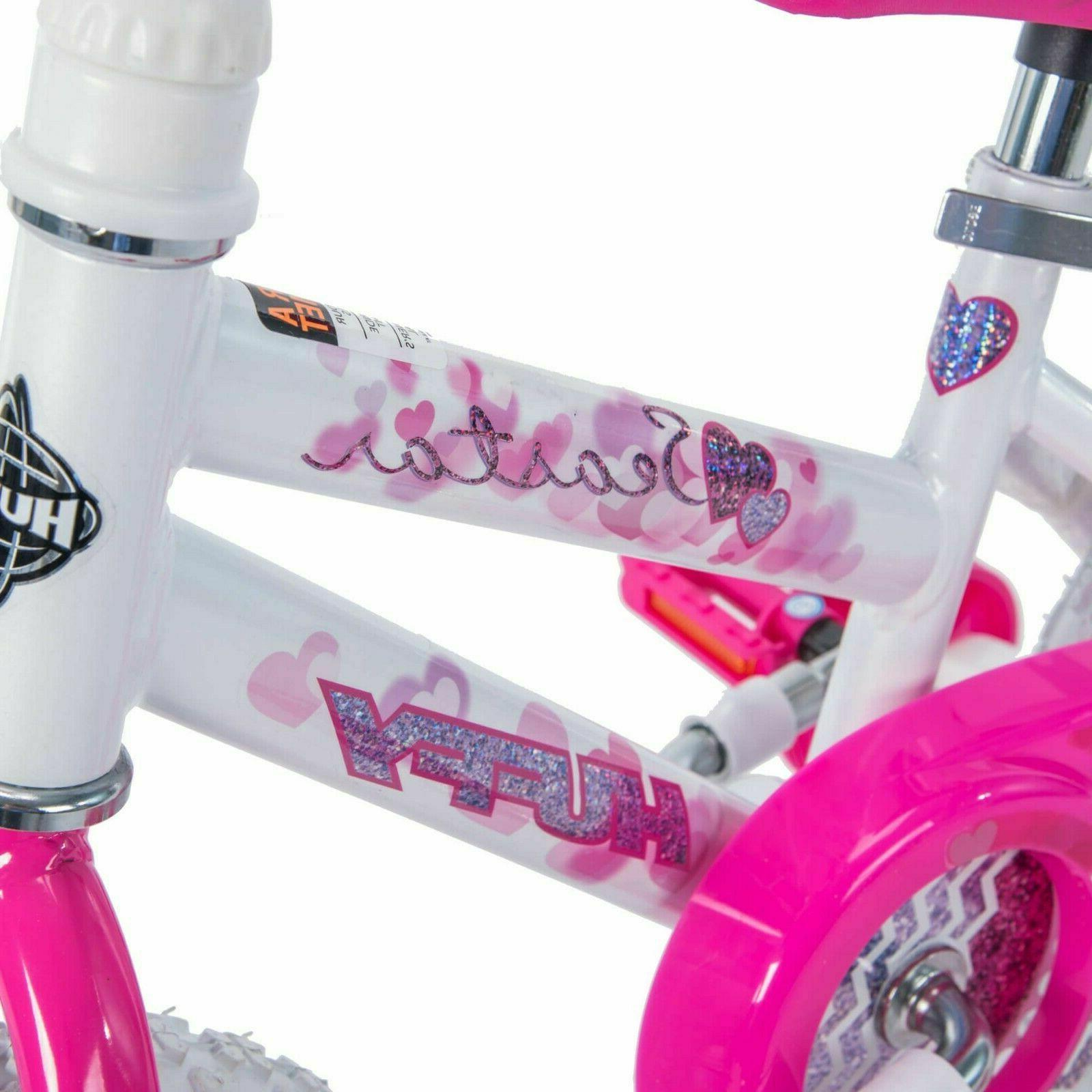 12 Inch Girl's Kids Bicycle With Wheels Beginner New