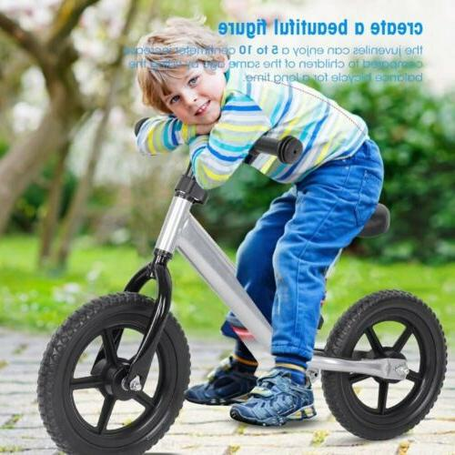 12 inch Carbon Steel Kids Children No-Pedal Silver US