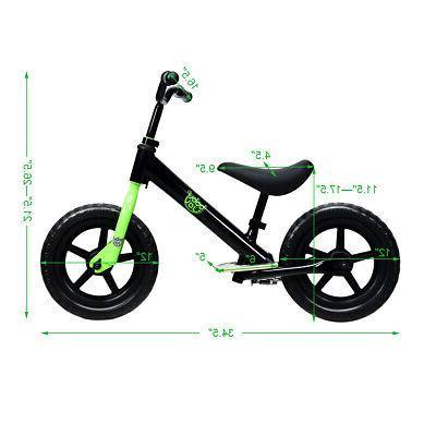 """12"""" Kids No Child Training Bicycle Seat Black"""