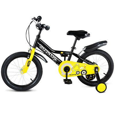 "12"" Kids Sports Bike W/ Wheel Girls Cycling"