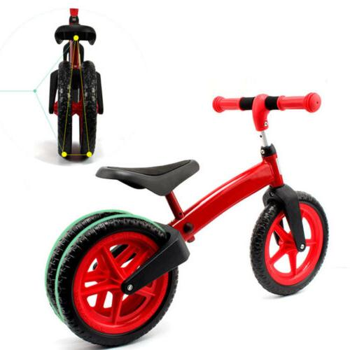12 red balance bike kids no pedal