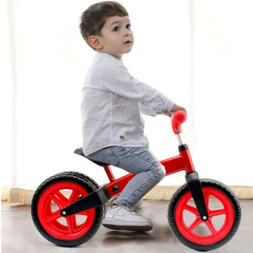 12'' Kids No-Pedal Adjustable 3 Wheels To Ride