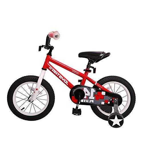 Red 14 in Wheels Freestyle BMX Boy/'s Bikes and Girl/'s Bikes with Training Wheel