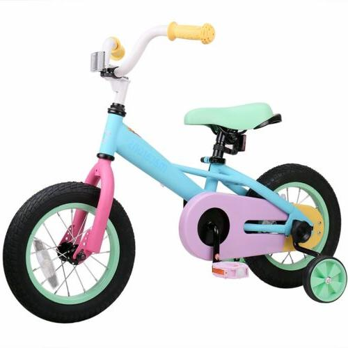 Joystar 14 Inch Macaroon Kids Bicycle with Training Wheels f