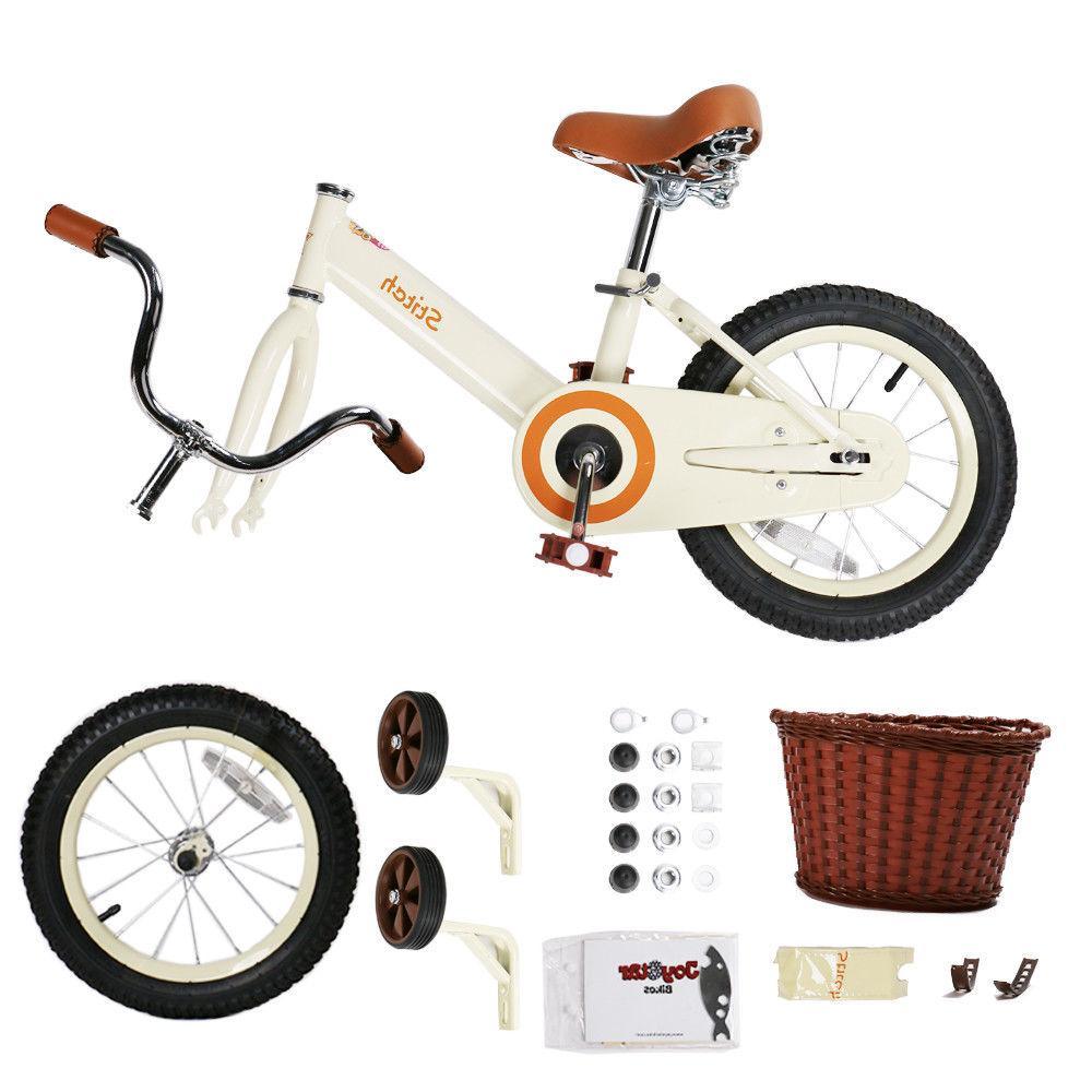 JoyStar 14 16 Vintage Bike Girls with Basket Coaster Brake