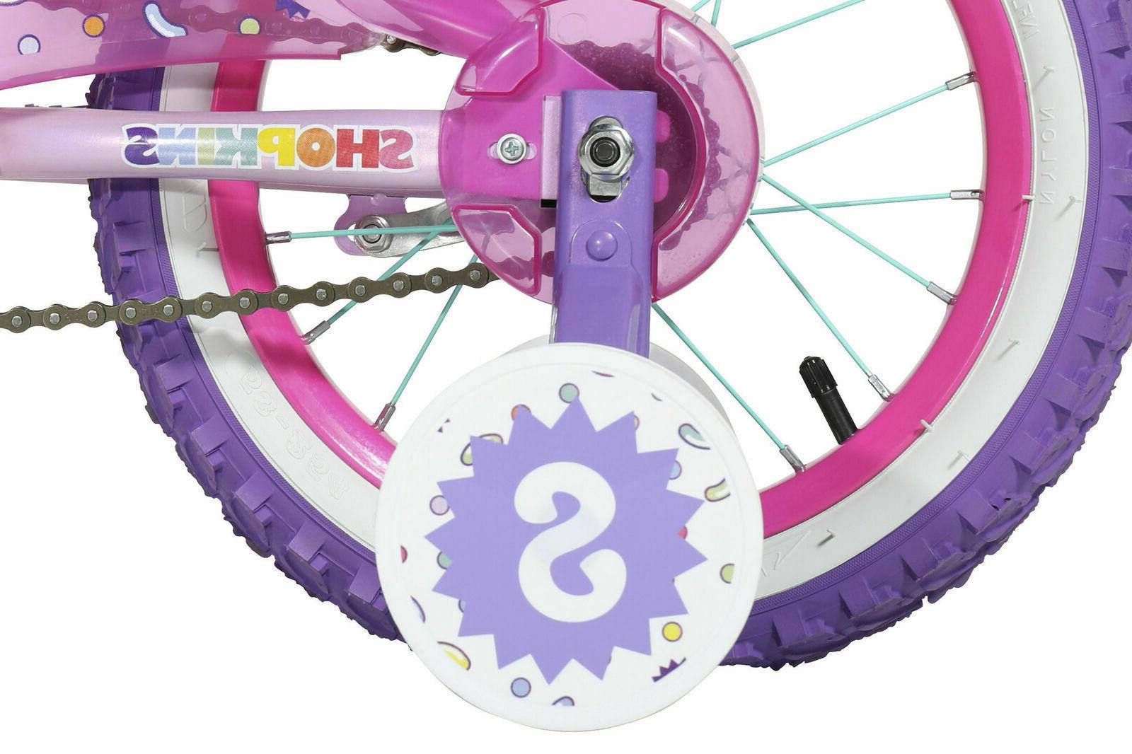 "14"" Bike - Dynacraft, Shopkins, Purple, with Wheels Ages 4-7"
