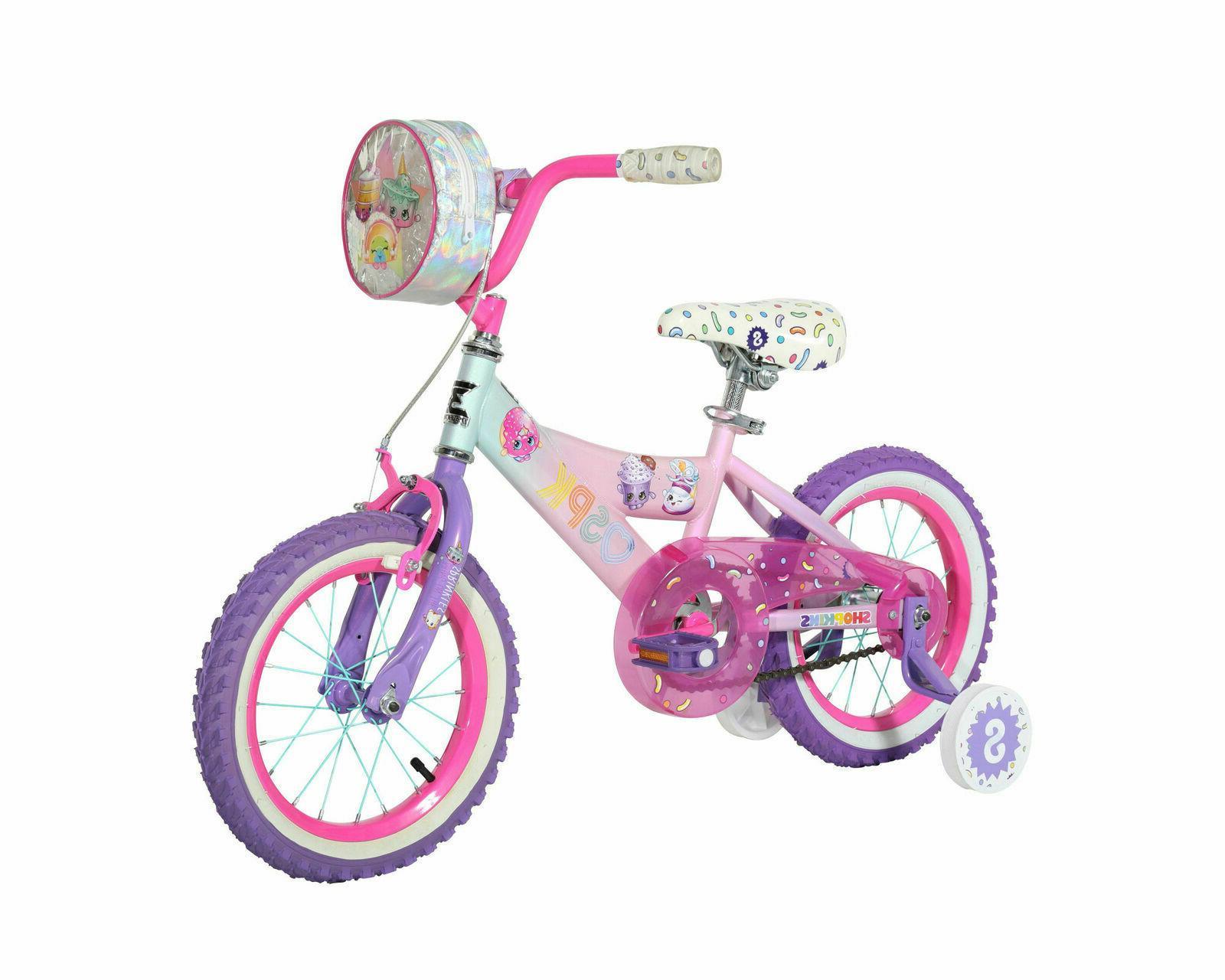 14 kids bike shopkins pink purple