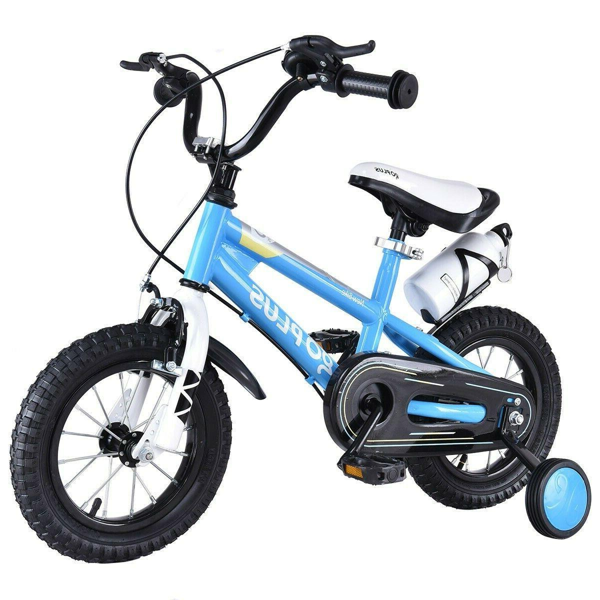16'' Freestyle Kids Bike Bicycle Children Boys & Girls w Tra