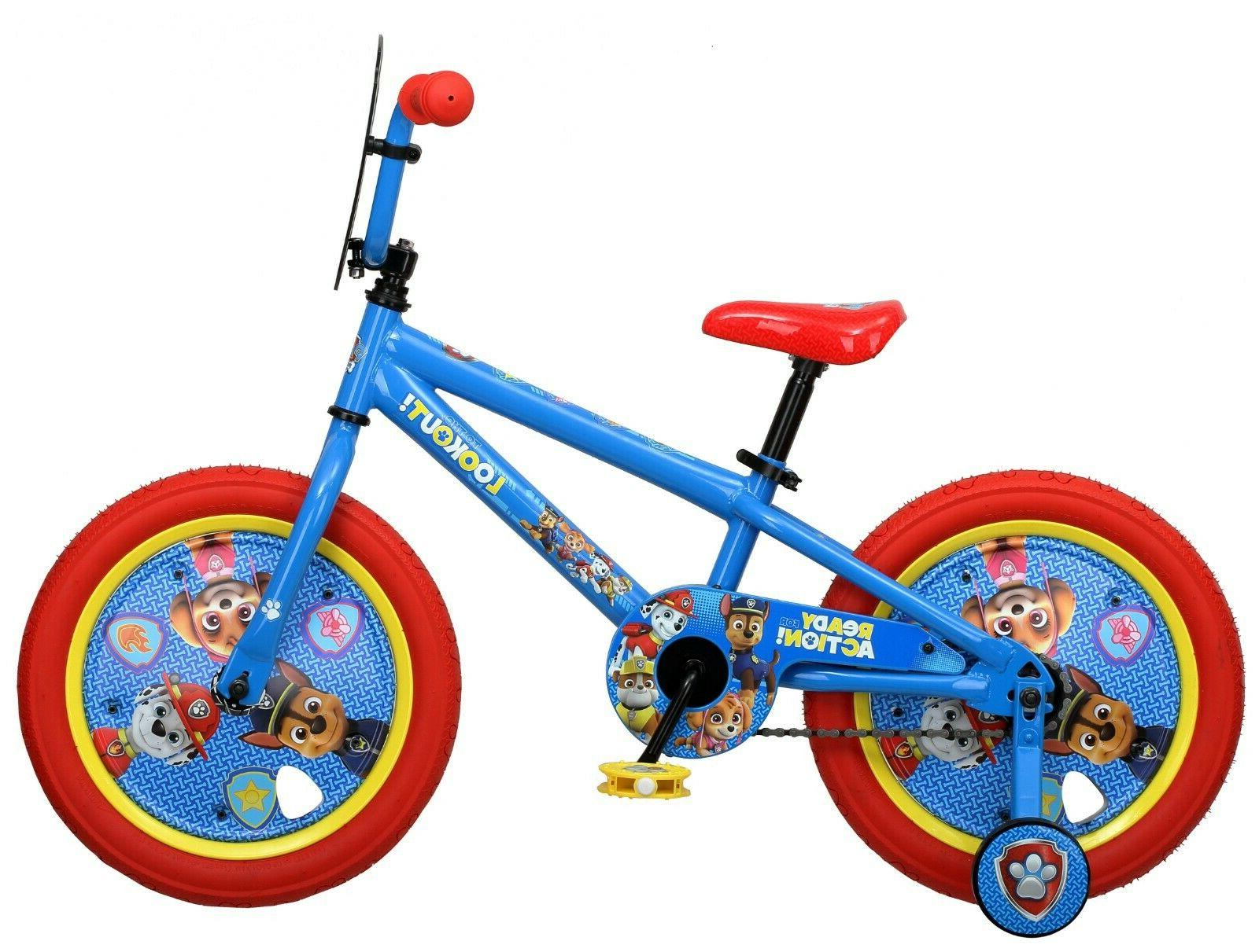 Nickelodeon 16 inch Paw Patrol All Character Bike Paw Puppy Bicycle for Kids